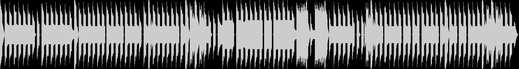 凛々しい雰囲気のチップチューン風BGMの未再生の波形