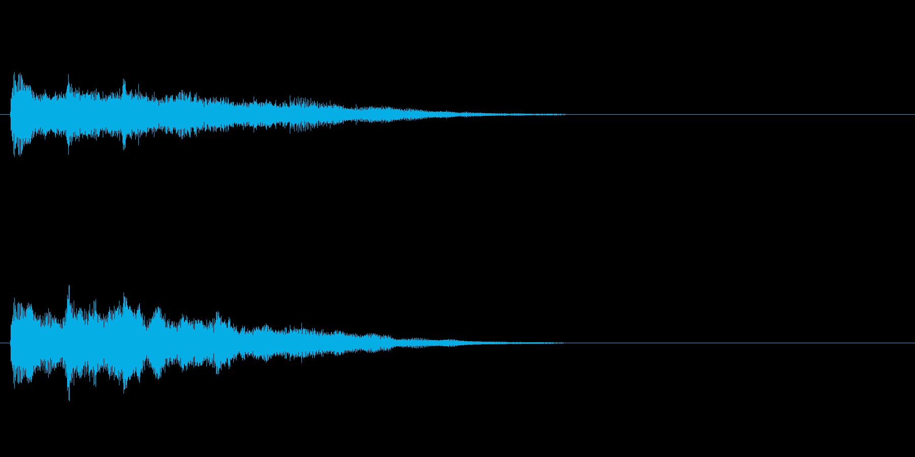 ジングル(ミステリアス風)の再生済みの波形