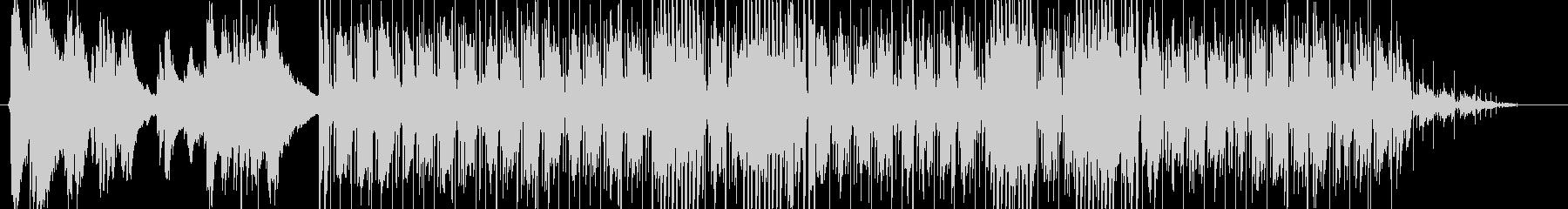 フィンガースタイルのリフ ブルースの未再生の波形