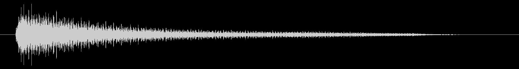 ピアノのお洒落なアクセント(2秒)の未再生の波形