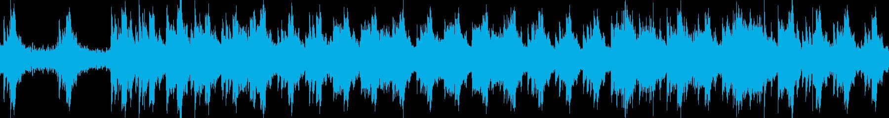 ヒーリング 癒やし ピアノ ハープループの再生済みの波形