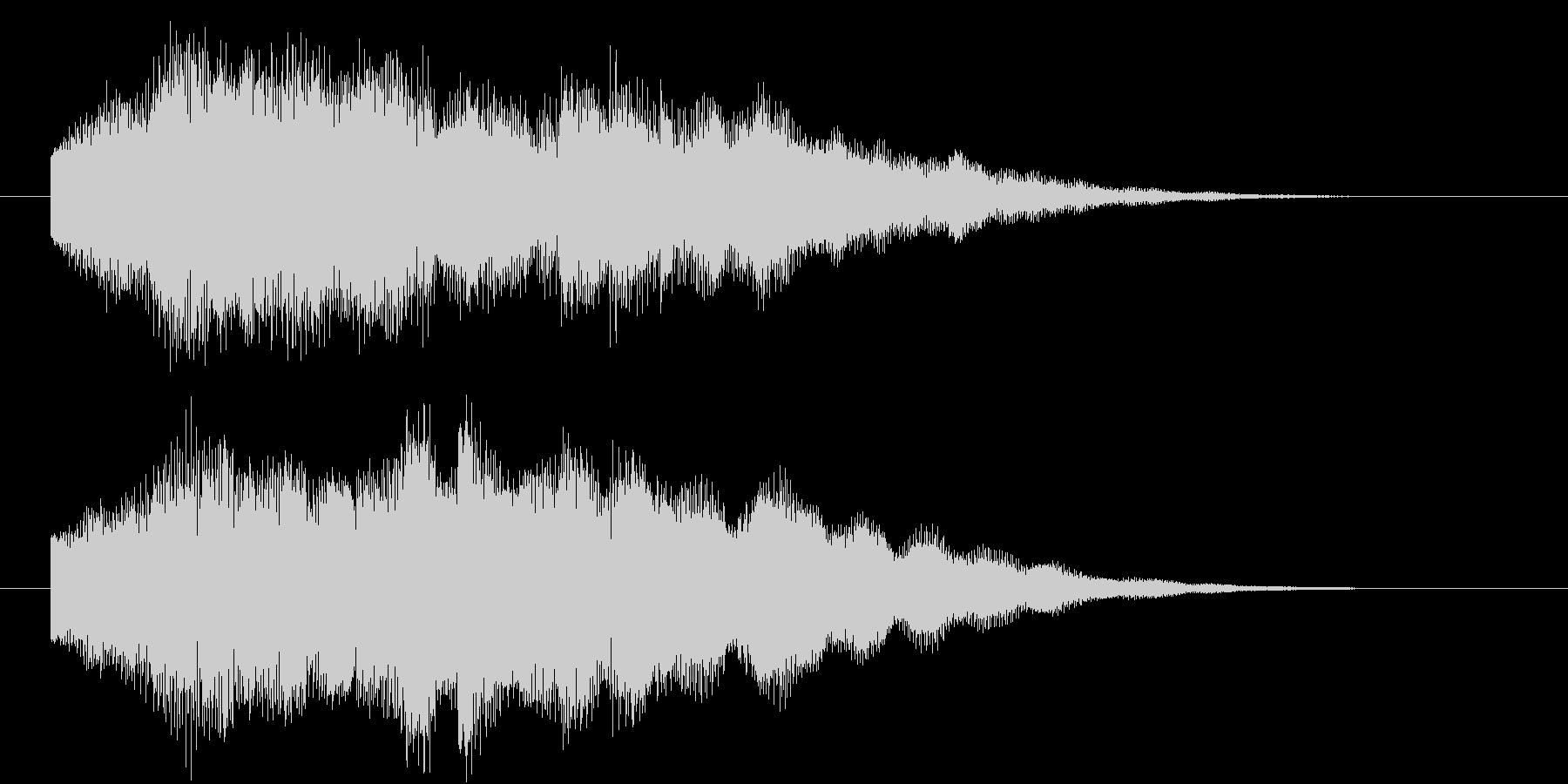 デジタル音のベル風ジングルの未再生の波形