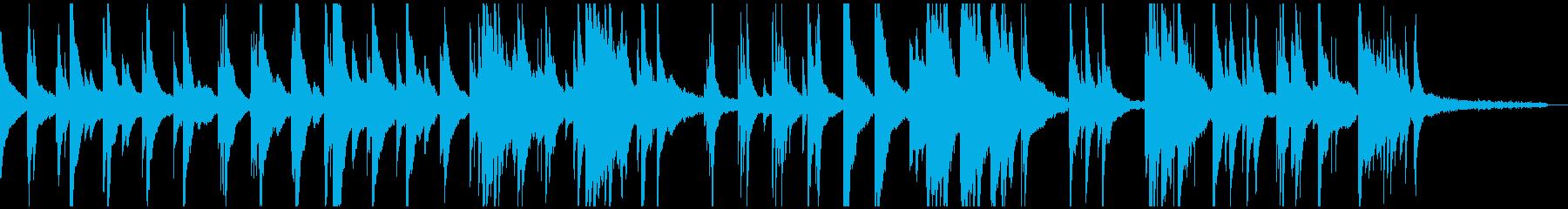 切なく感傷的なピアノソロの再生済みの波形
