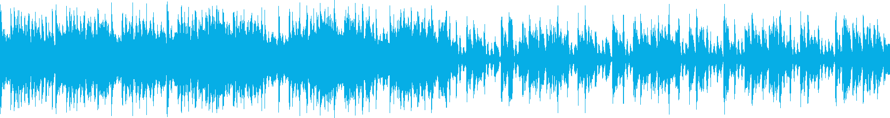 脈動するシンセサイザーとポジティブ...の再生済みの波形