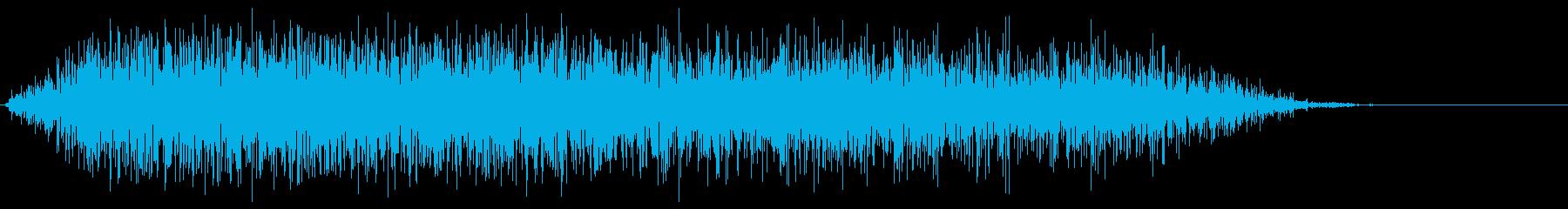 モンスター 威嚇 01の再生済みの波形