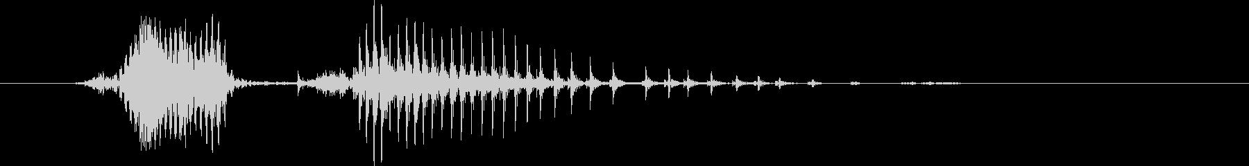 チキンの未再生の波形