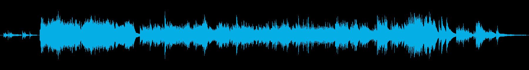 切なげな旋律のピアノ音楽の再生済みの波形