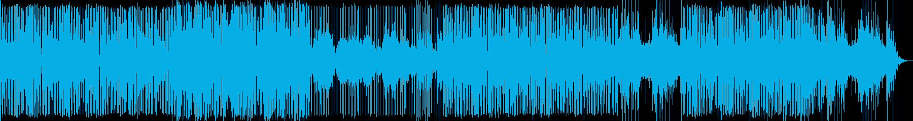 アップテンポでエネルギッシュなジャズの再生済みの波形