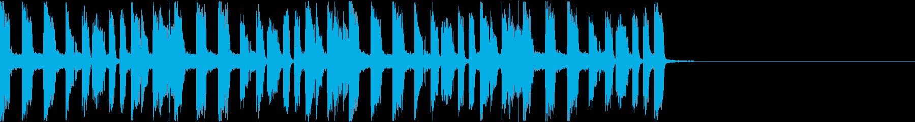 かっこいいファンクギターのジングル1の再生済みの波形