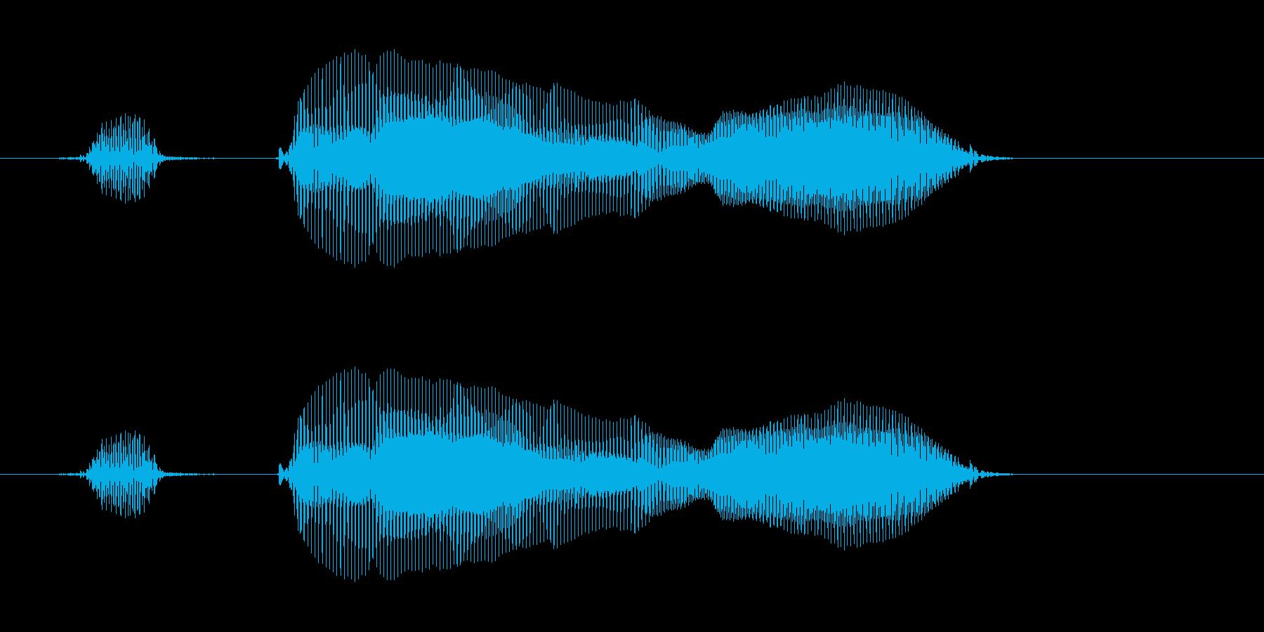 おかえり!の再生済みの波形