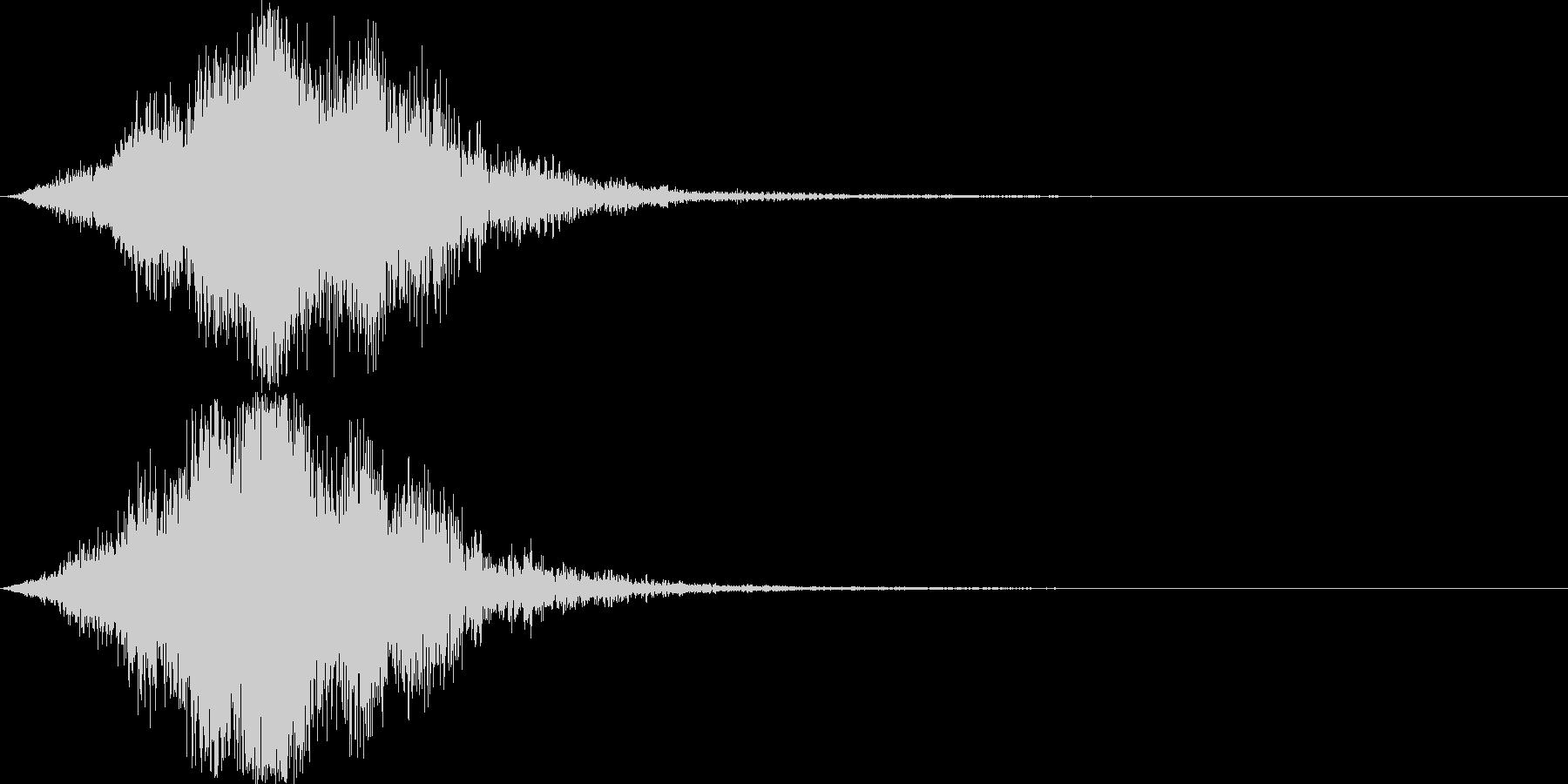 迫力のサウンドロゴ(SF・近未来)の未再生の波形