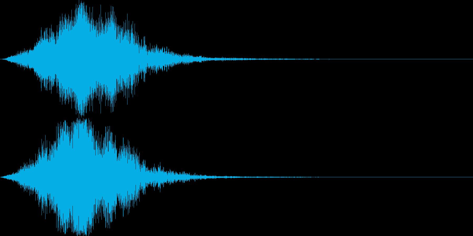 迫力のサウンドロゴ(SF・近未来)の再生済みの波形