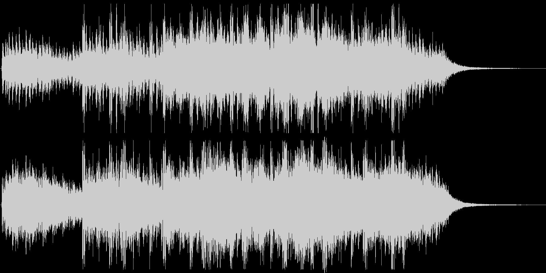 幻想的で怪しい不安定なホラーミュージックの未再生の波形