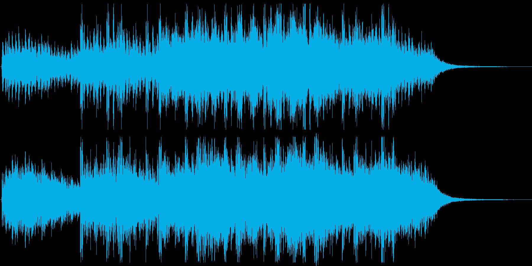 幻想的で怪しい不安定なホラーミュージックの再生済みの波形