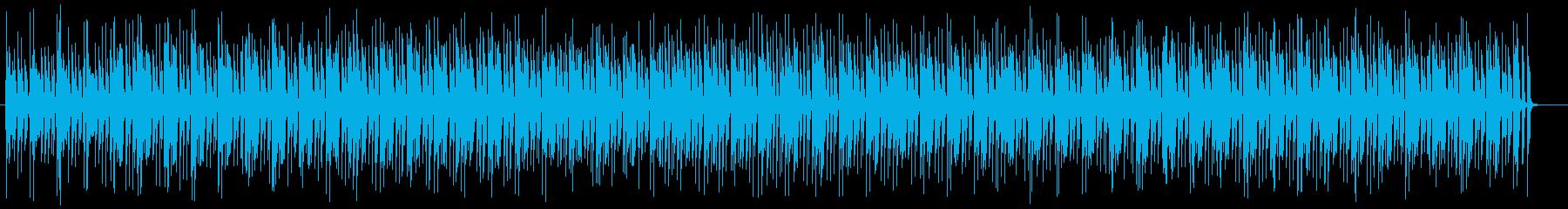 明るいキラキラした可愛い曲の再生済みの波形