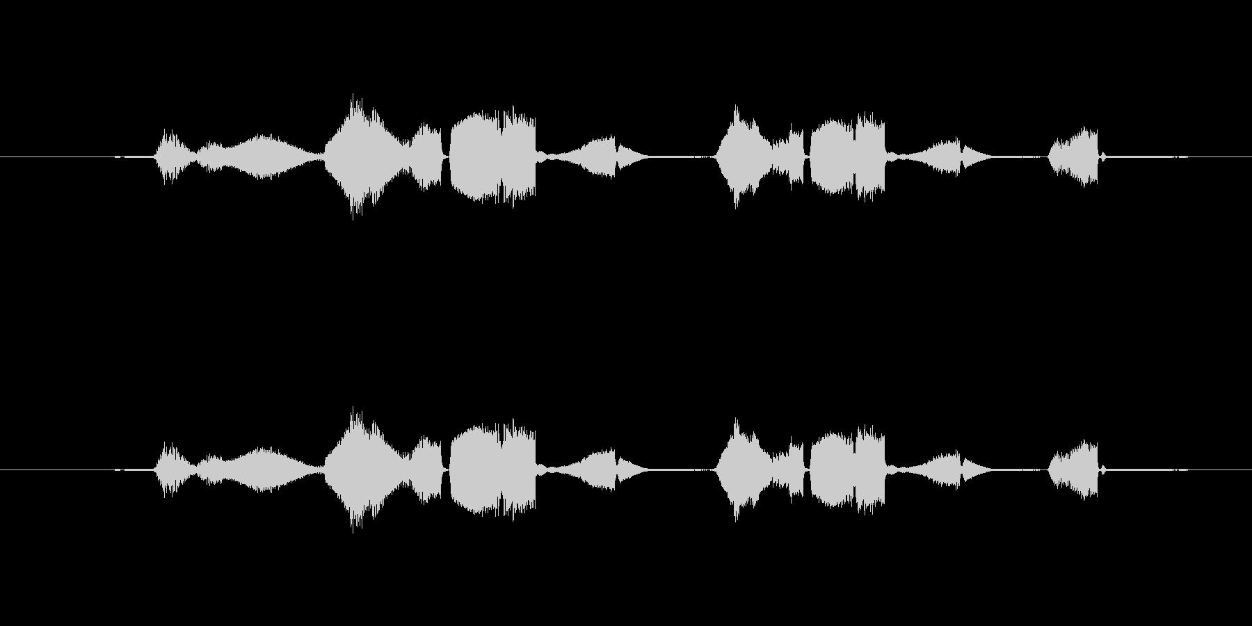 特撮 グリッチを確認02の未再生の波形
