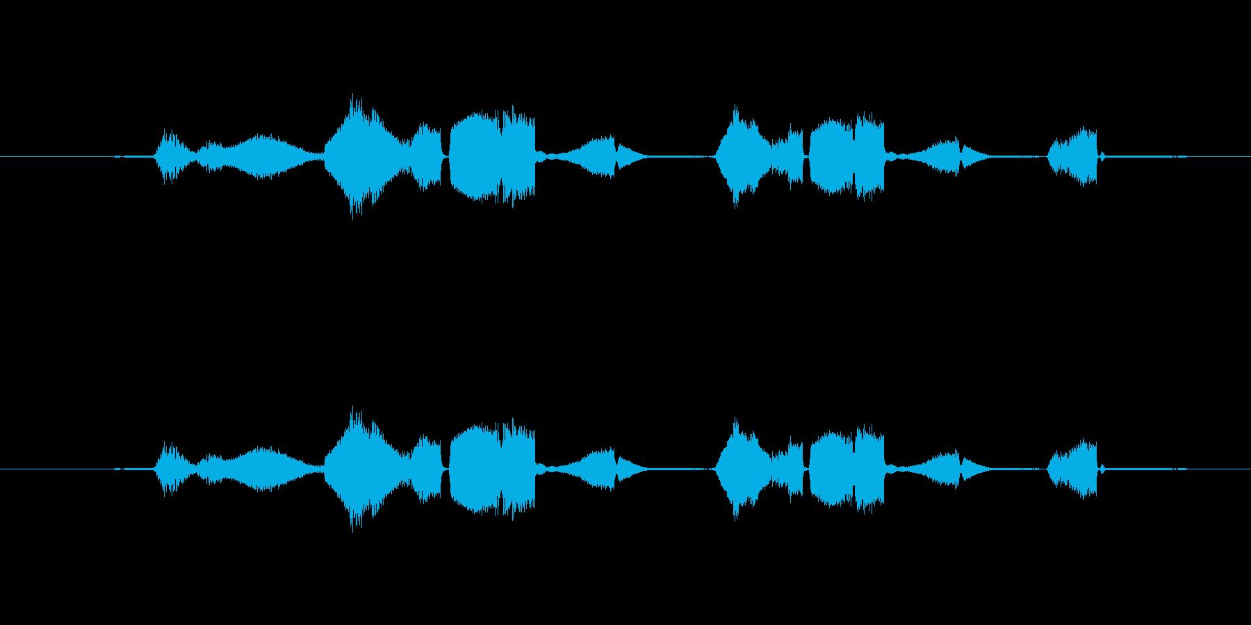 特撮 グリッチを確認02の再生済みの波形