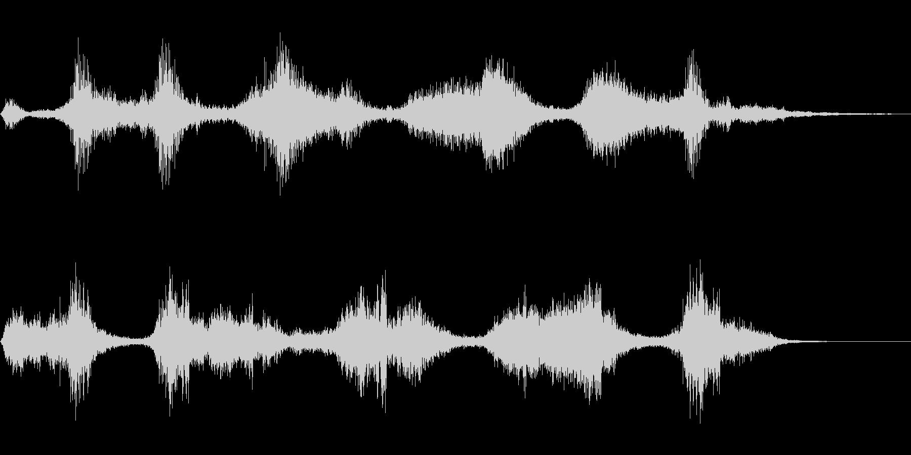 危険な物体が現れた音の未再生の波形