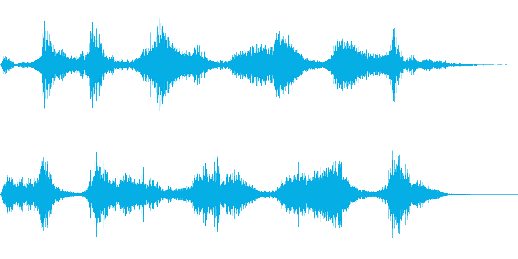 危険な物体が現れた音の再生済みの波形