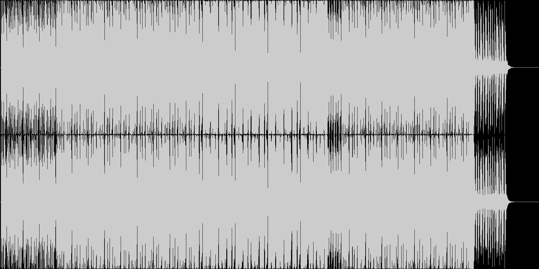 少しジャズっぽい大人で落ち着いたBGMの未再生の波形