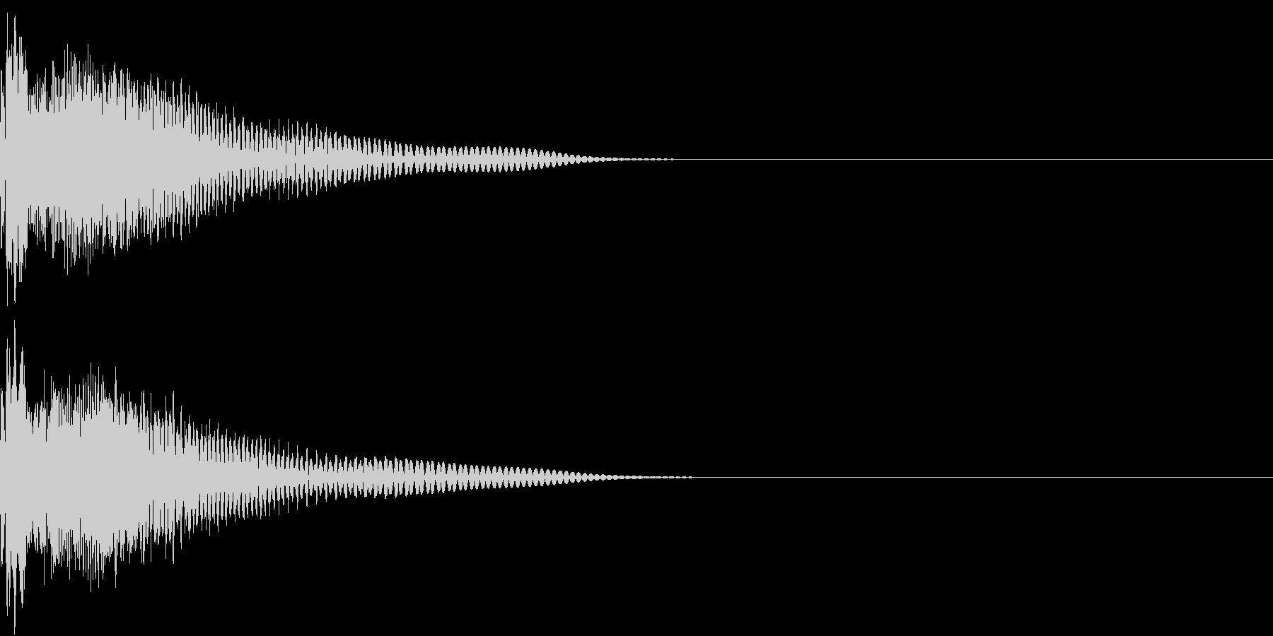 GAME 汎用性の高い攻撃音・ダメージ音の未再生の波形