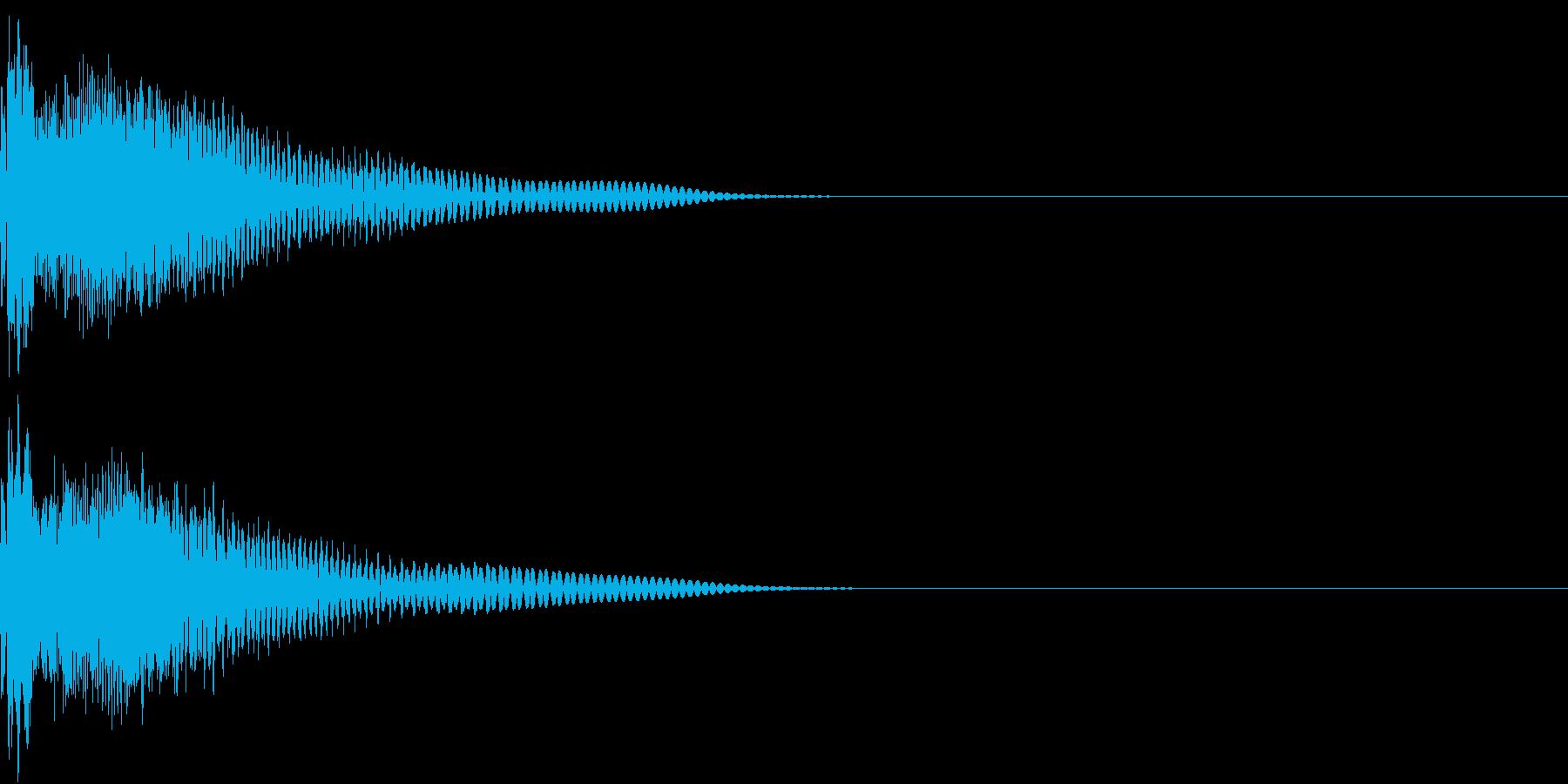 GAME 汎用性の高い攻撃音・ダメージ音の再生済みの波形