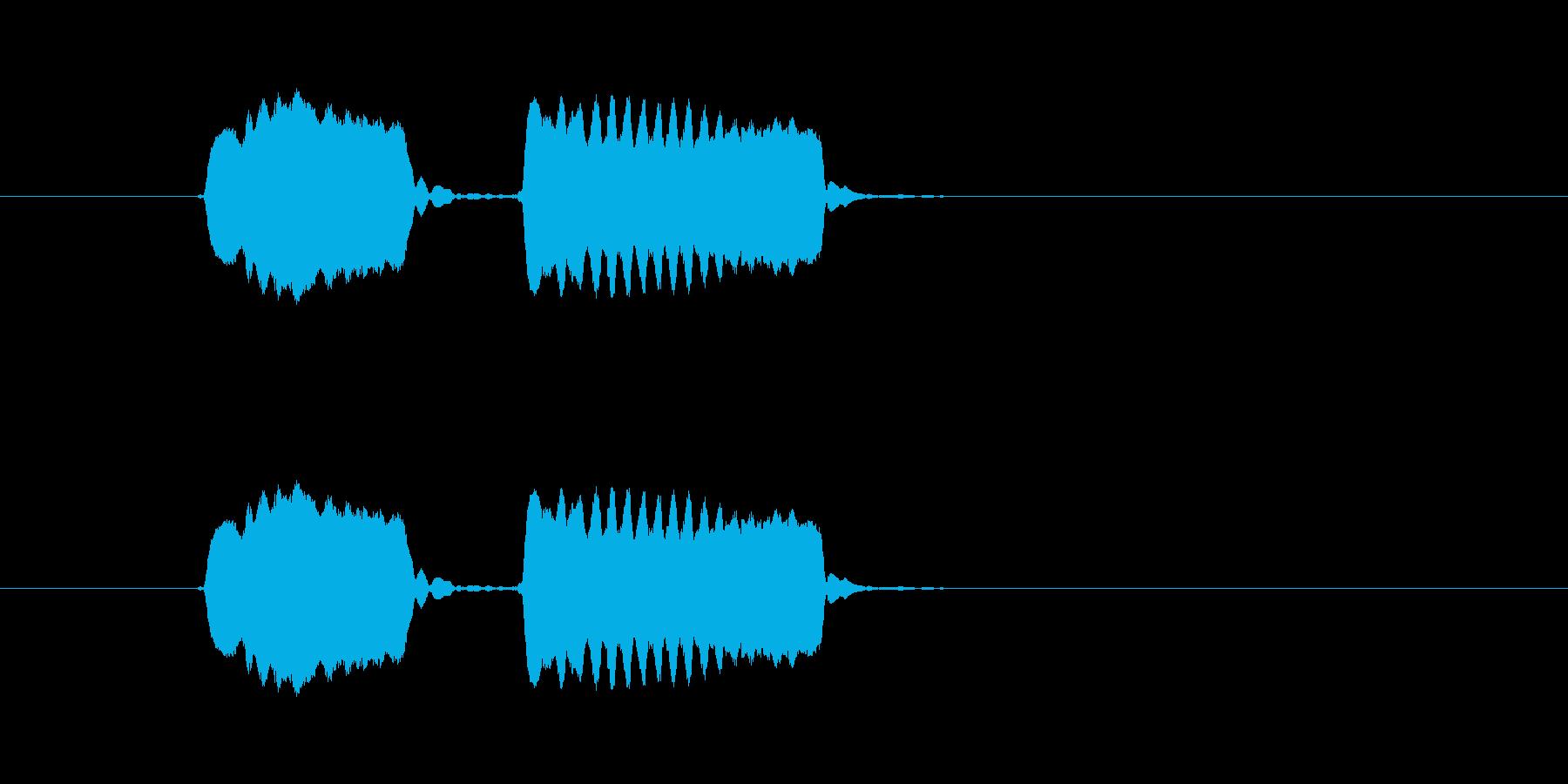 ピピッ!◆ホイッスル/競技、交通整理の笛の再生済みの波形