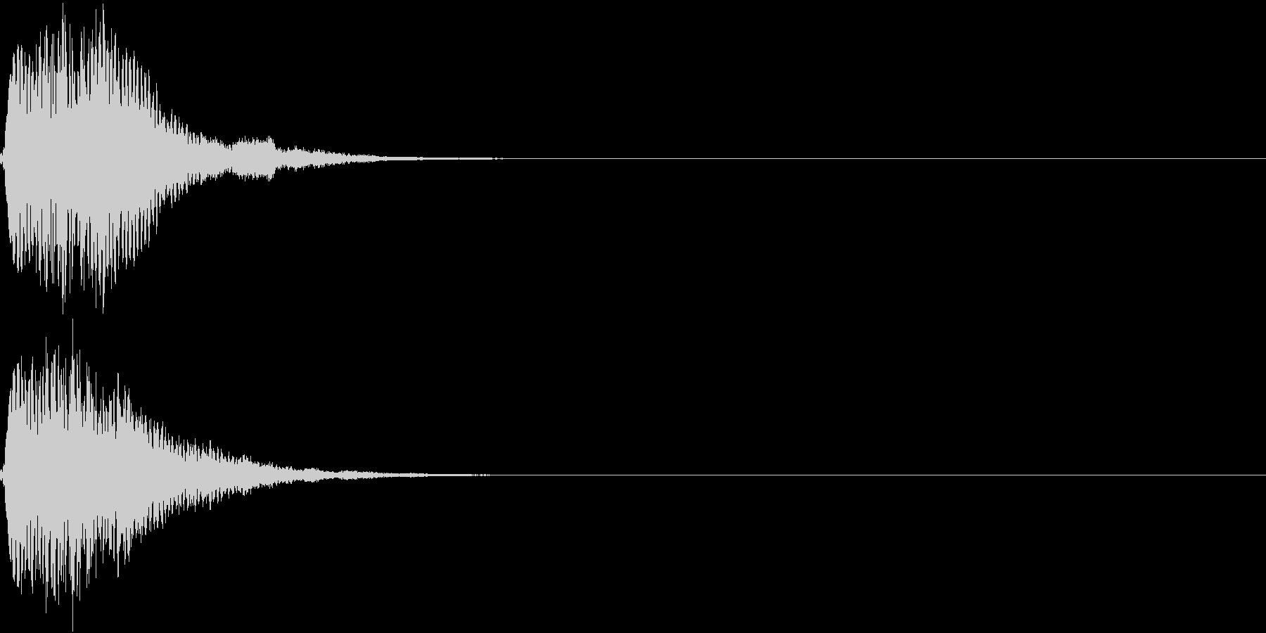 キュイン キーン シャキーン 光る 19の未再生の波形
