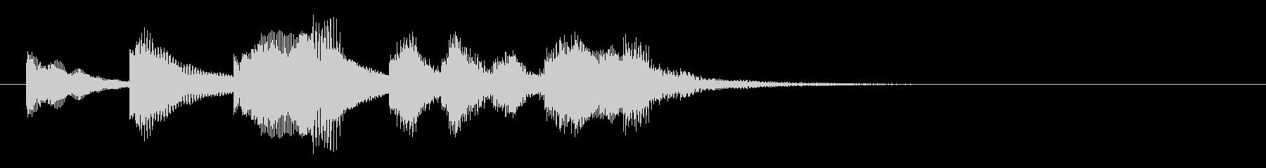 のほほんジングル027_勇ましい-3の未再生の波形