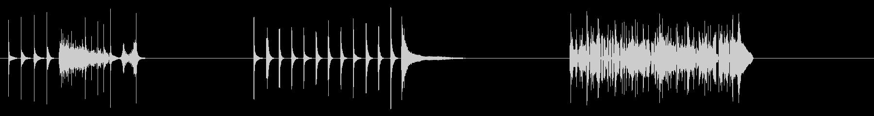 漫画マリンバの未再生の波形