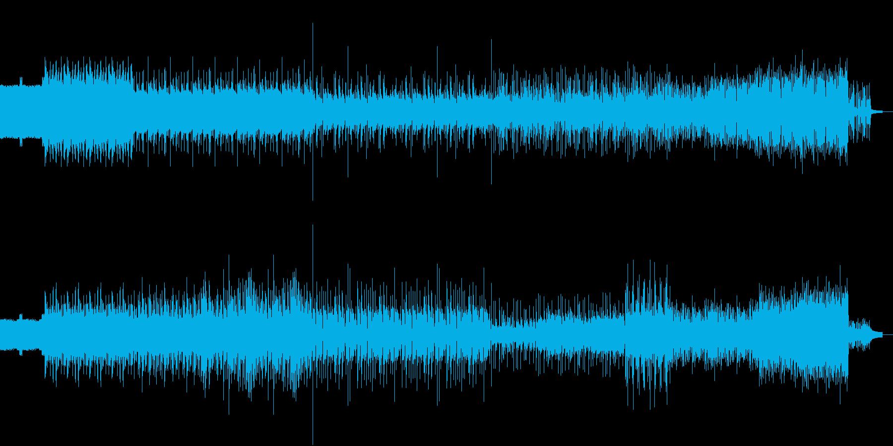 不思議な雰囲気を醸し出す音楽の再生済みの波形