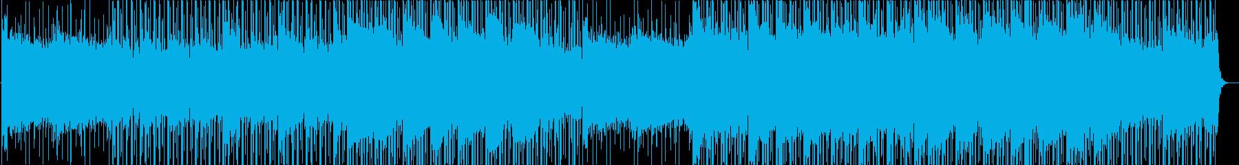 伝統的なロック楽器と電子音の現代的...の再生済みの波形