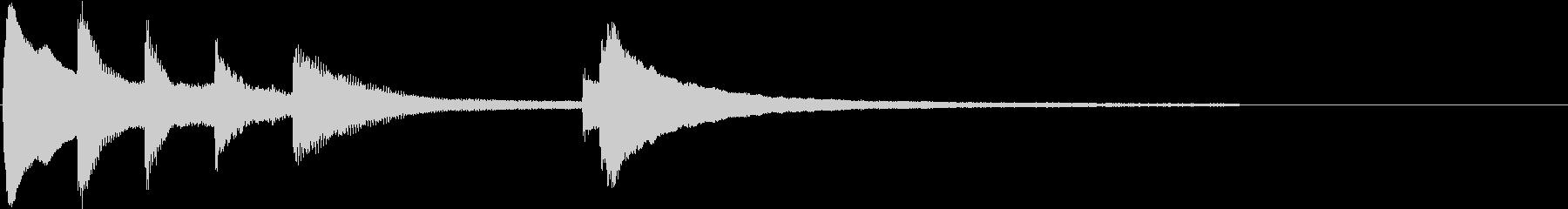 優しいピアノジングル 温かい心の未再生の波形