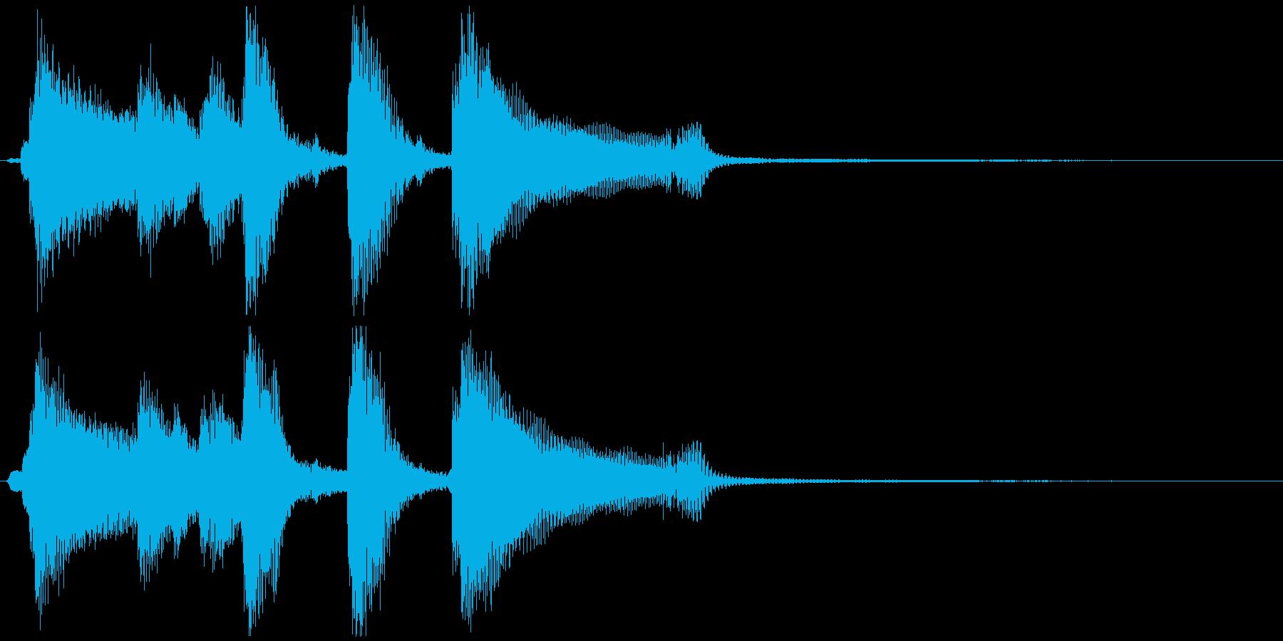 かわいくてキラキラしたファンファーレの再生済みの波形