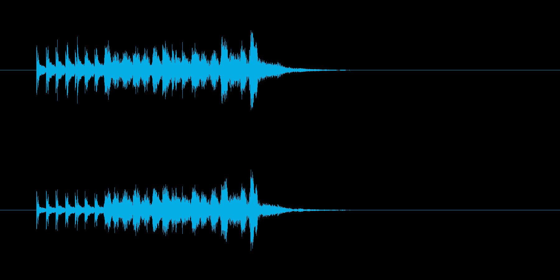 打楽器 コミカル 変 ポップの再生済みの波形