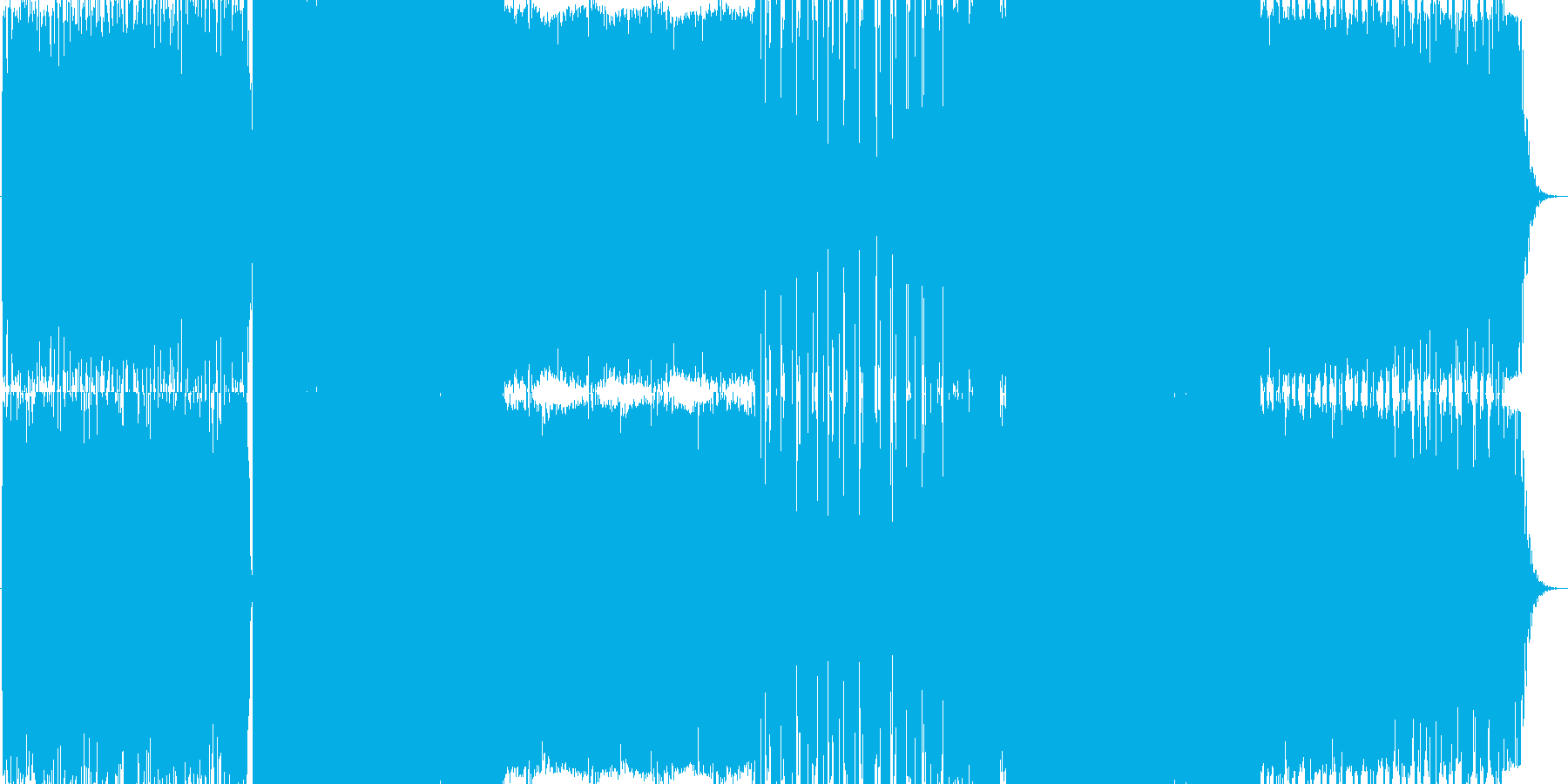 現代的な解放感のあるEDMの再生済みの波形