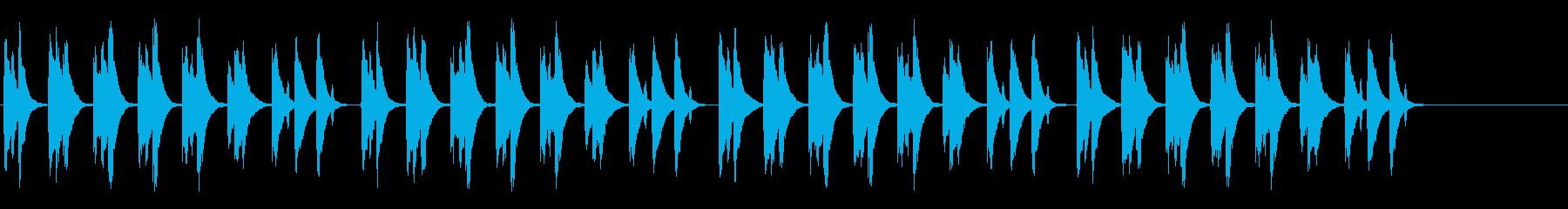 ほのぼの系の日常曲の再生済みの波形