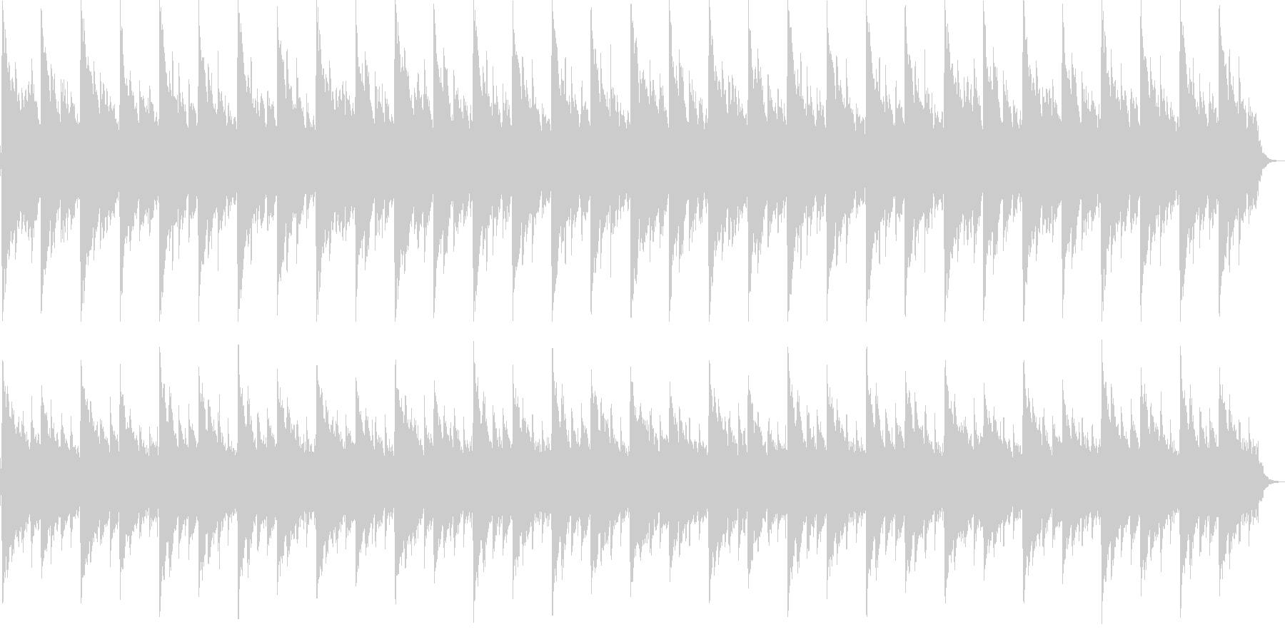 浮遊感のある短い曲です。の未再生の波形