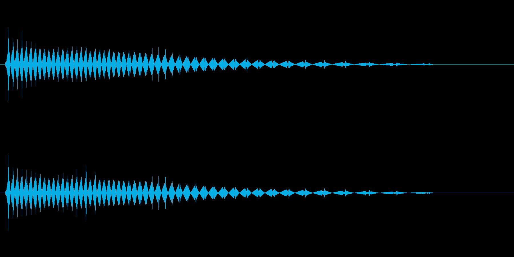 川辺で静かに鳴くカエルの音の再生済みの波形