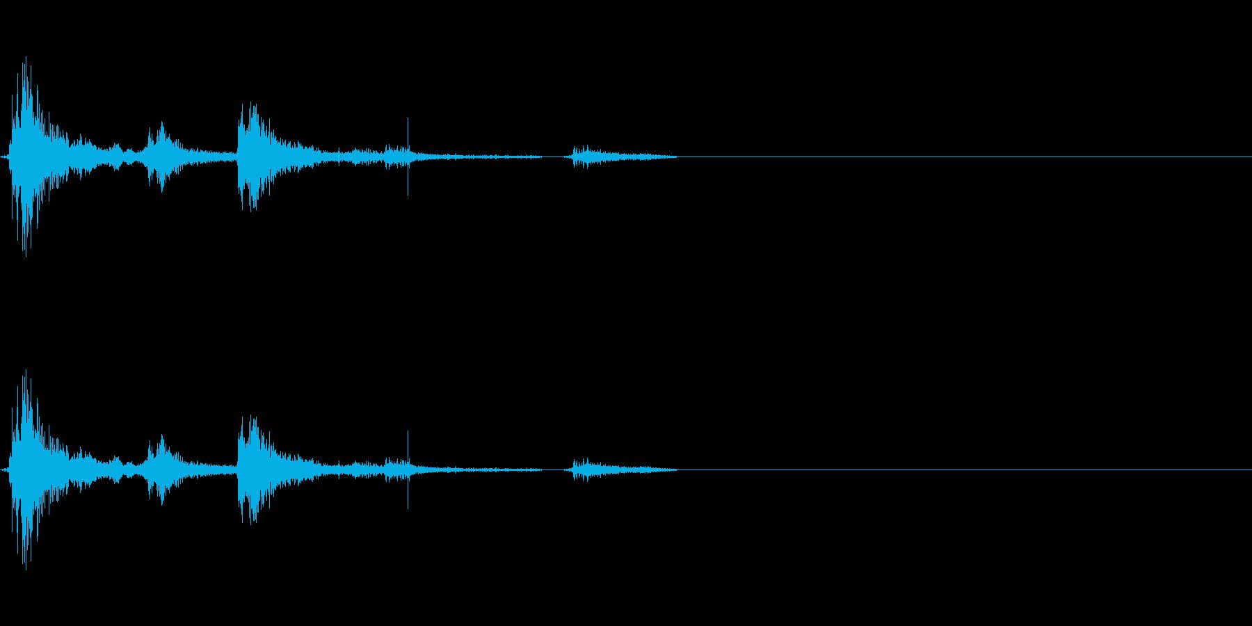 神社でお賽銭を入れる音の再生済みの波形