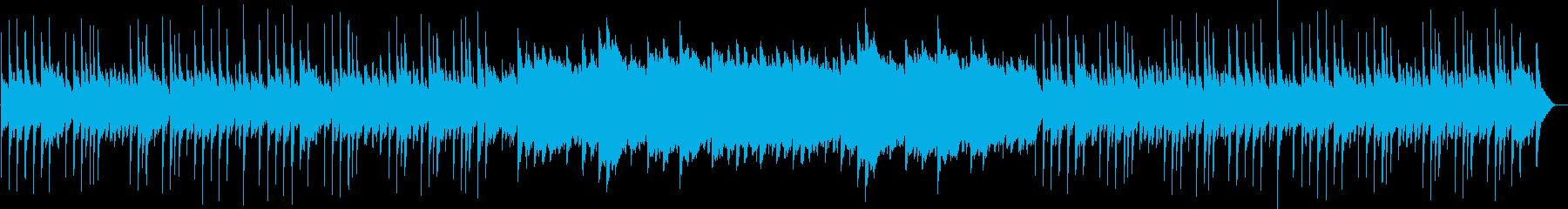 優しいリラクゼーション曲の再生済みの波形