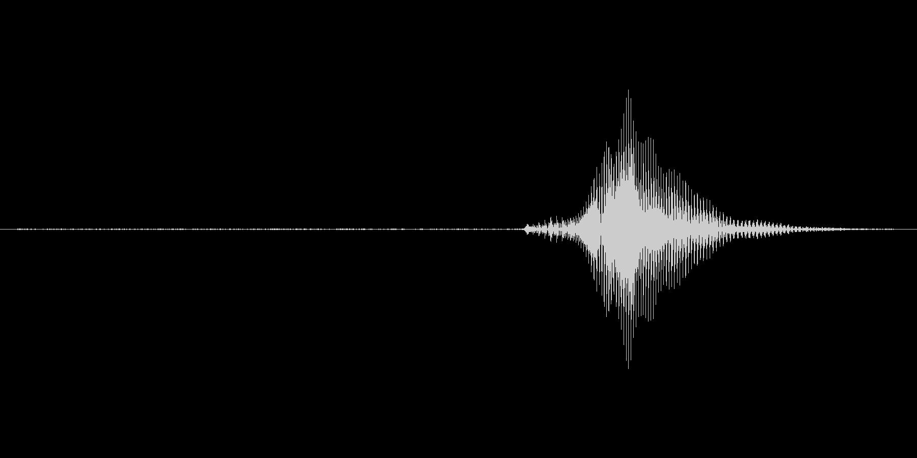 1(わん)の未再生の波形