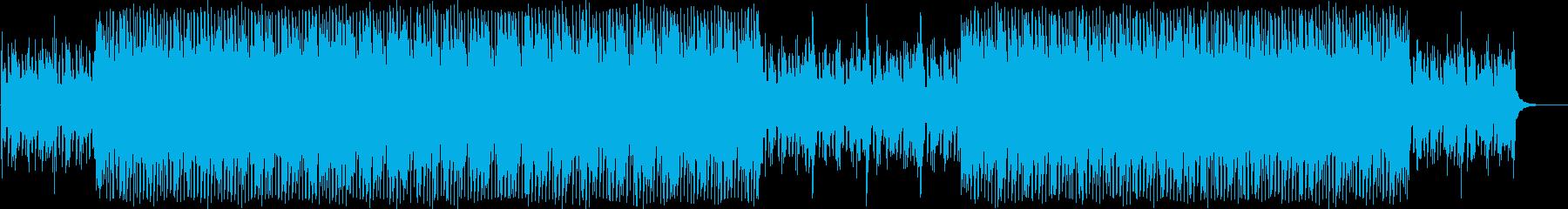 ミステリアスな雰囲気のEDMの再生済みの波形