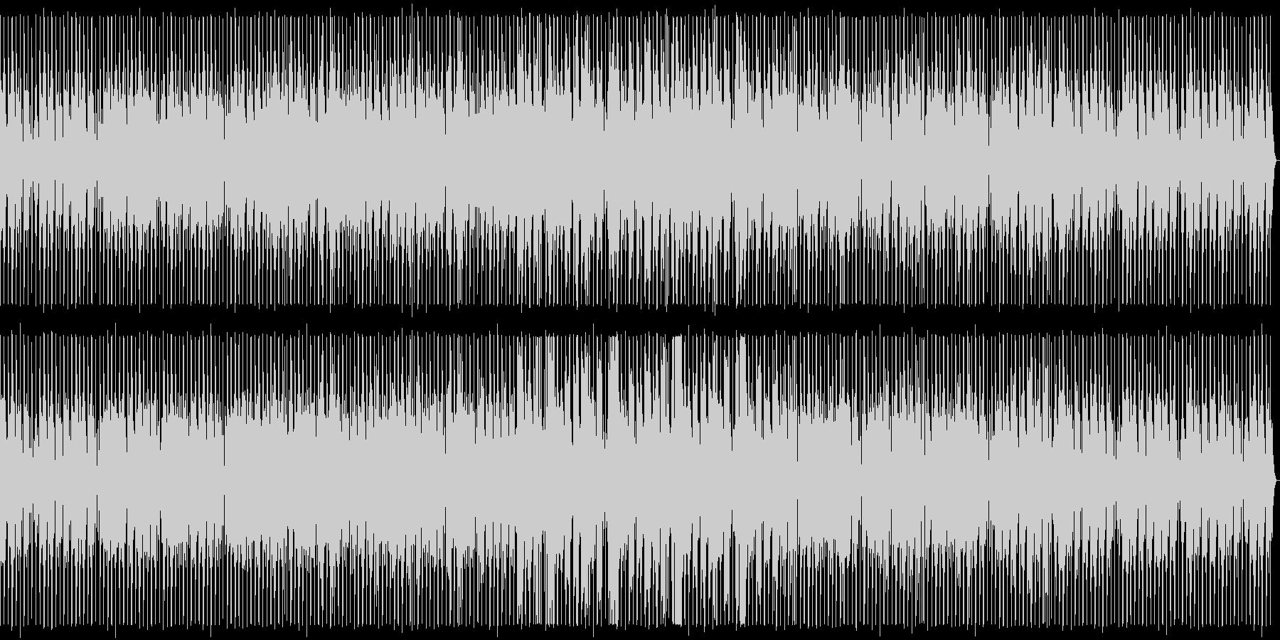 ノリの良い明るめのダンスミュージックの未再生の波形