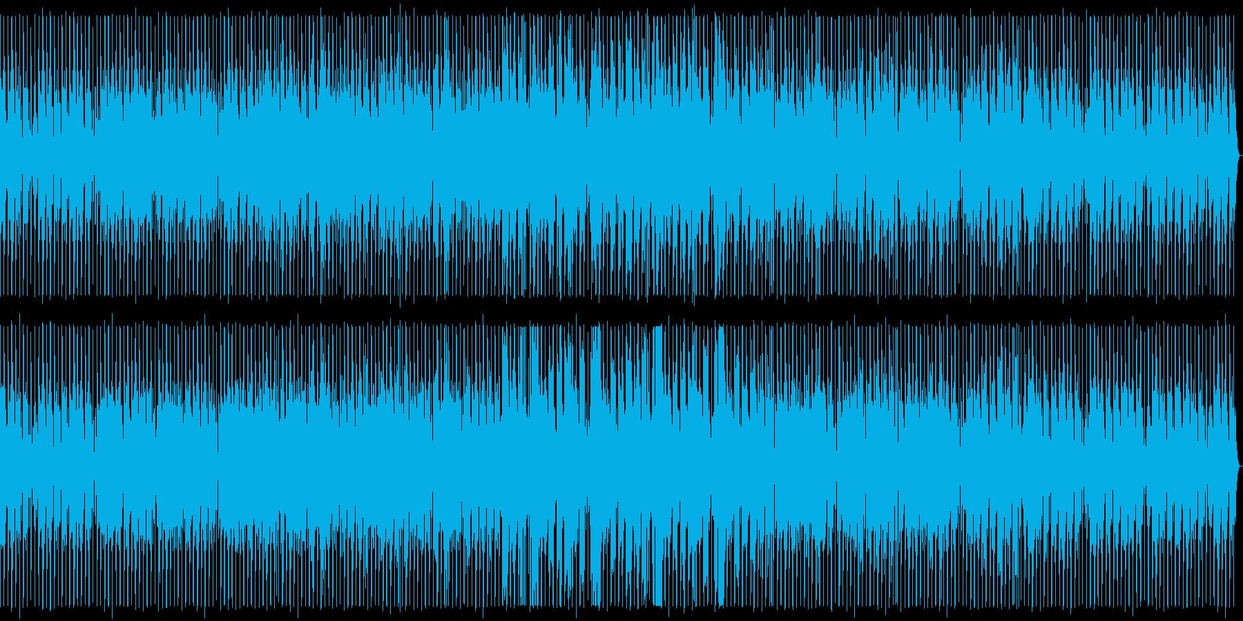 ノリの良い明るめのダンスミュージックの再生済みの波形