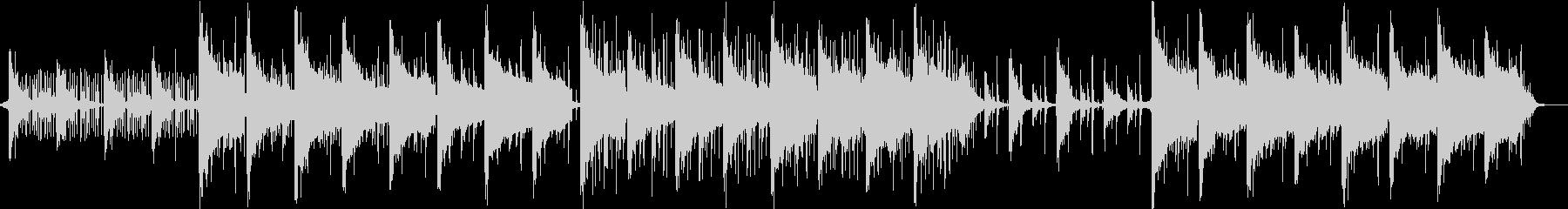 テック系アンビエントミニマルビート曲の未再生の波形