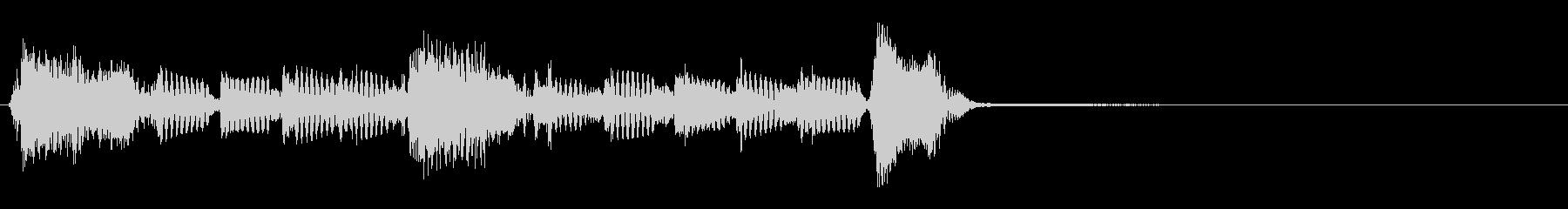 単音ギターのハーモニーSEの未再生の波形