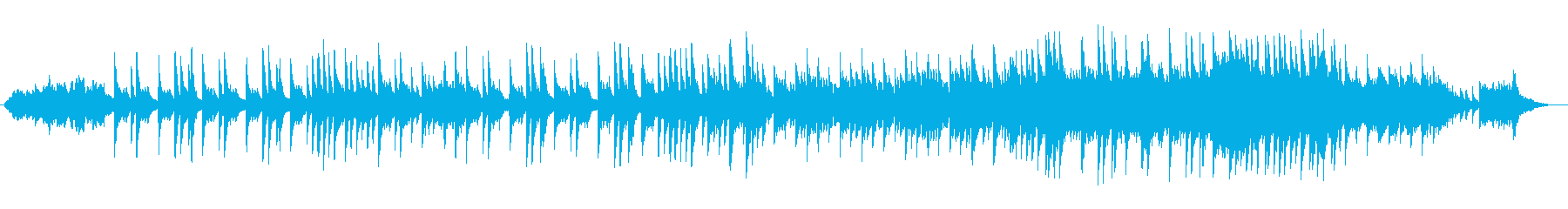 ピアノを使った優しいバラードの再生済みの波形