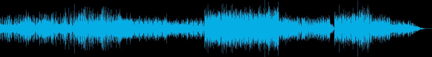 雰囲気のあるシンセとテクノのドラム...の再生済みの波形