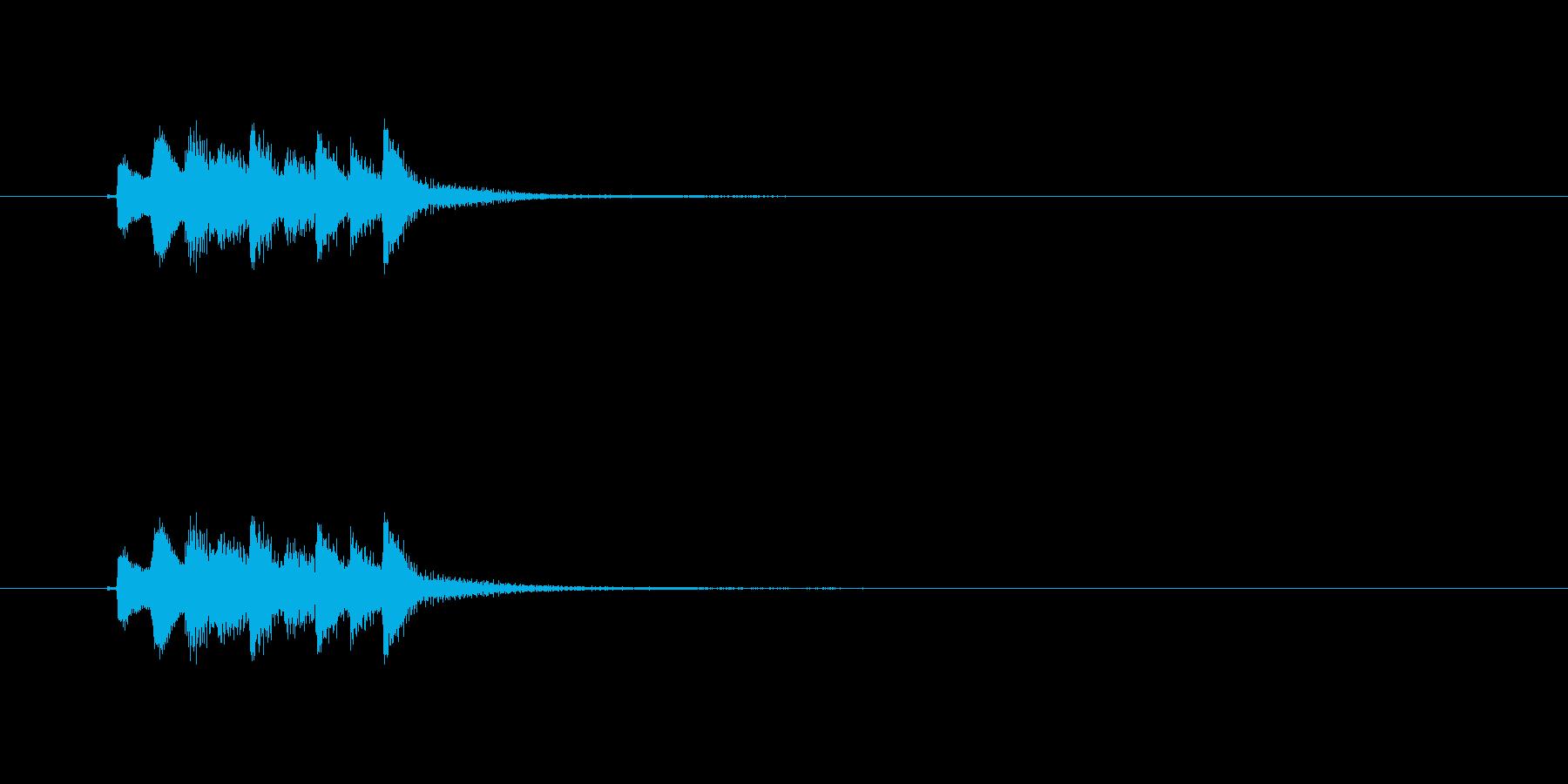 和風効果音 琴4の再生済みの波形